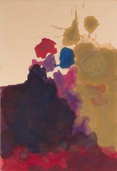 """terminusantequem:  """"Helen Frankenthaler (American, 1928-2011), Untitled, 1962-63. Oil on canvas, 194.3 × 130.8 cm  """""""