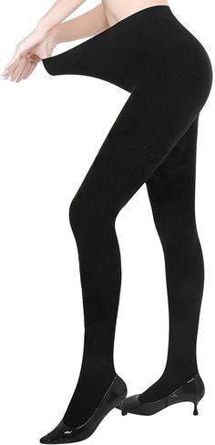 NEW WOMENS LADIES THERMAL BRUSHED FLEECE WARM LEGGINGS TOG OPAQUE WINTER SIZE