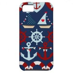 Summer Nautical Theme Anchors Sail Boats Helms iPhone 5 Case #iphone5 #iphonecases #zazzle #prettypatterngifts www.PrettyPatternGifts.com