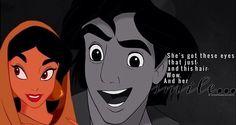 """""""Aladdin"""" - Jasmine and Aladdin."""
