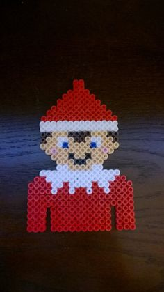 These Santa Claus or Elf Perler Beads are great for that time of year coming up. Simply place in someones gift, give to someone as an ornament or are great