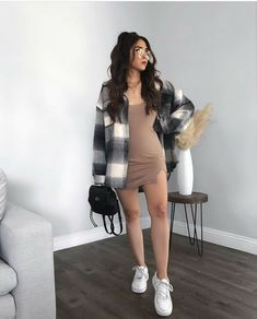 Cute Casual Outfits, New Outfits, Fall Outfits, Fashion Outfits, Tshirt Dress Outfit, Everyday Dresses, Aesthetic Fashion, Girl Fashion, Clothes For Women