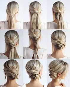 18 tutorials fr hochzeitsfrisuren fr brute und brautjungfern braute brautjungfern hochzeitsfrisuren tutorials new long wedding hairstyles and updos from hair by hannah taylor hair hairstyles hannah long taylor updos wedding Wedding Hairstyles Tutorial, Bride Hairstyles, Bridesmaids Hairstyles, Hairstyle Tutorials, Bridal Hair Tutorial, Hairstyle Ideas, Bridesmaid Hair Tutorial, Chignon Tutorial, Easy Wedding Guest Hairstyles