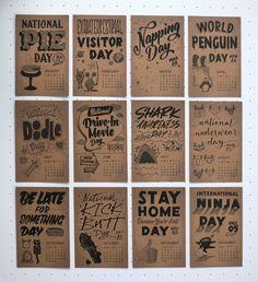 Dirty Bandits Calendar 2015 - awesome hand lettered calendar