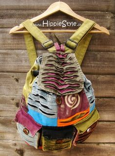 Plecak worek patchworkowy boho