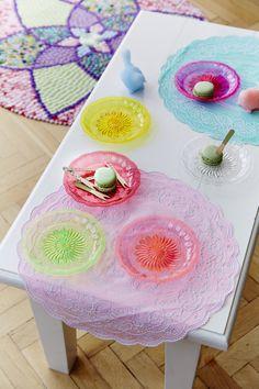Pretty pastel plates