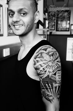 Stairs to heaven, scroll hands and dove custom tattoo (the owner) – tattoo sleeve men Dove Tattoos, Forarm Tattoos, Forearm Sleeve Tattoos, Bicep Tattoo Men, Turtle Tattoos, Tribal Tattoos, Tatoos, Half Sleeve Tattoos For Guys, Full Sleeve Tattoos