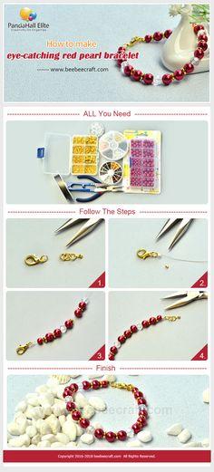 #Beebeecraft glass pearl #bracelet tutorial