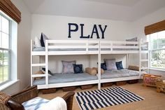 Love this - double up bunk beds one set for Ricky and one set for Alex when they share a room in the future!