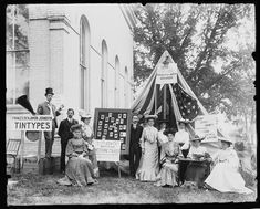 Tintype booth at a county fair, 1903