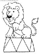 circus lion coloring pages | circus coloring book pages to print - Free circus printable kids ...