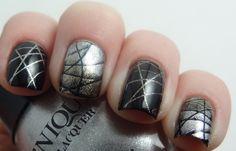 Metallic Blue Green Nails