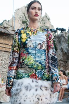 Dolce & Gabbana Alta Moda Fall/Winter 2015 couture show in Capri