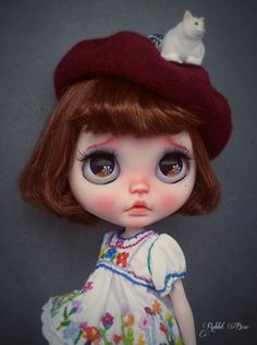 Ooak Custom Blythe Doll/Art doll Little Pity by by rabbitbearhouse