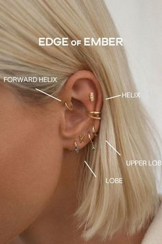 Nail Jewelry, Jewelry Tattoo, Jewlery, Ear Piercings Chart, Cool Piercings, Cute Earrings, Jewelry Branding, Designer Earrings, Bling