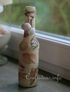 Seashell Craft Ideas   http://www.craftideas.info/html/seashells_bottle_d.html