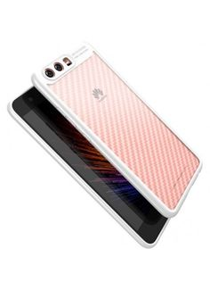 Coque Huawei P10 IPaky Fibre Carbone Premium - Blanc