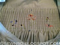 the underside of smocking - keeping it neat & tidy!