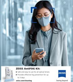ZEISS AntiFog Spray - An effective, attractively priced and convenient way to keep your spectacle lenses from fogging up. This easy-to-use solution keeps your lenses FOG FREE for up to 72 hours.⠀⠀⠀ #seeingbeyond #ZEISS #ZEISSSmartLife