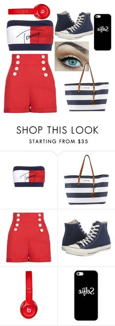 """""""Untitled #34"""" by andreina02 ❤ liked on Polyvore featuring Tommy Hilfiger, Michael Kors, Converse, Beats by Dr. Dre and Casetify"""