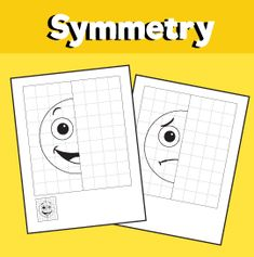 Emotions - 5 Symmetry Worksheets – 10 Minutes of Quality Time Symmetry Worksheets, Feelings And Emotions, Quality Time, Maths, Art Lessons, Classroom, English, Goals, Activities