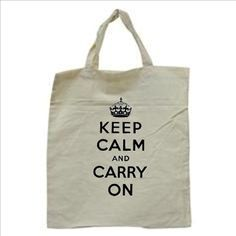 Keep Calm and Carry On Tote Bag by TheGoodLifebyKatie on Etsy, $10.00