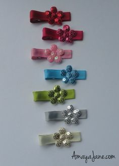 Sequin Flower Hair Clip { Amaya Jane Accessories }