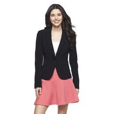 Junior's Single Button Blazer Black