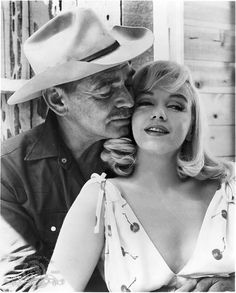 Clark Gable y Marilyn Monroe, The Misfits (Vidas Rebeldes), 1961.