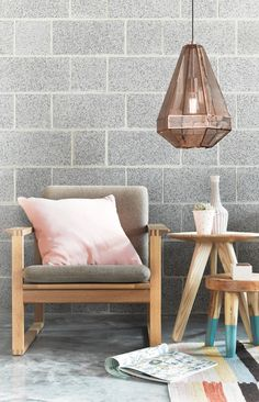 The Beacon Lighting Elliot tall geometrical copper pendant with copper mesh and black flex. These pendants are striking by themselves or clustered in a group and would suit many applications like over bedside tables, a dining table or over a bench top. Copper Pendant Lights, Kitchen Pendant Lighting, Kitchen Pendants, Light Pendant, Outdoor Ceiling Lights, Ceiling Lighting, Beacon Lighting, House Lighting, Stylish Kitchen