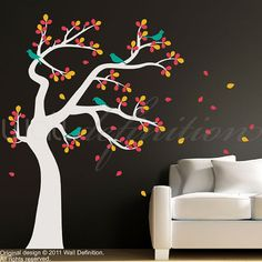 Vinyl Tree Wall Decals Wall Stickers  Tree with by WallDefinition, $88.00