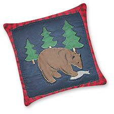 """Timberline Quilted Bear Pillow 14"""" x 14"""""""