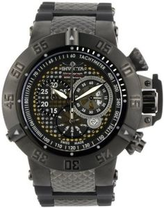 Invicta Men's 6043 Subaqua Collection Noma III Chronograph Black Ion-Plated and Rubber Watch: Disclosure: affiliate link