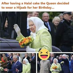 Queen Elizabeth II basically wore the hijab on her birthday Laughing Therapy, Funny Relationship Quotes, 90th Birthday, Have A Laugh, Queen Elizabeth Ii, Laughter, Lol, Reading, Words