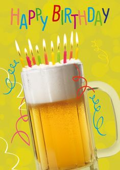 Happy Birthday Beer with Candles - Happy Birthday Funny - Funny Birthday meme - - Happy Birthday Beer with Candles The post Happy Birthday Beer with Candles appeared first on Gag Dad. Funny Happy Birthday Messages, Happy Birthday Man, Happy Birthday Pictures, Birthday Wishes Cards, Happy Birthday Quotes, Happy Birthday Cakes, Happy Birthday Greetings, Funny Birthday Cards, Free Birthday
