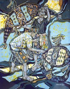 Artworks of Ismail Mat Hussin Wau Bulan Malaysia Truly Asia, Southeast Asian Arts, Asian Artwork, Kite, Easy Drawings, Amazing Art, Watercolor Art, Anime Art, Islamic