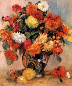 Pierre-Auguste Renoir, Vase of Flowers on ArtStack #pierre-auguste-renoir #art