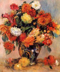 Pierre-Auguste Renoir, Vase of Flowers on ArtStack #pierre-auguste-renoir #art