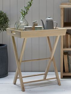 Talbot Raw Oak Butler S Tray Table Http Www And Co