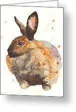 Watercolor Rabbit Print - I Am Tahiti Greeting Card by Alison Fennell