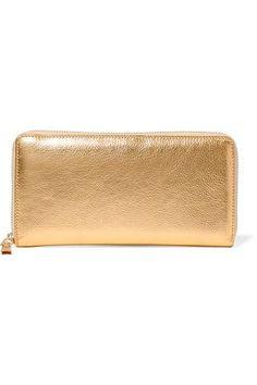 Comme des Garçons - Metallic Textured-leather Continental Wallet - Gold - one size