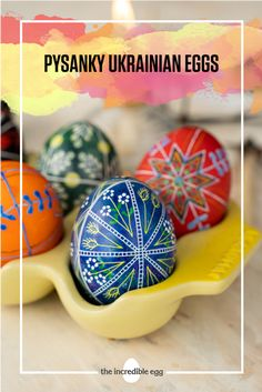 Easter is coming up soon, and we're ready to start decorating our Easter eggs. These Pysanky Ukrainian Eggs are to dye for, so get started on your Easter decorations today! Crafts For Kids, Arts And Crafts, Diy Crafts, Incredible Eggs, Ukrainian Easter Eggs, Shabby Chic Baby Shower, Egg Decorating, Vintage Easter, Easter Recipes