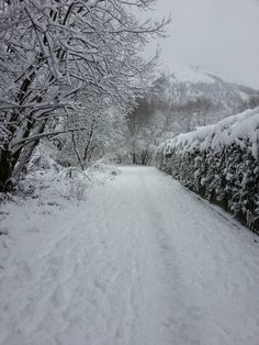 Rhondda Valley South Wales in the snow.