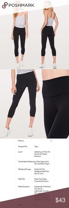 "7e08abf94 Lululemon Athletica Align Crop Legging (21"") Black"