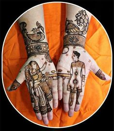 Karva Chauth Mehndi Designs - Unleash Your Creativity Full Mehndi Designs, Stylish Mehndi Designs, Mehndi Design Pictures, Wedding Mehndi Designs, Beautiful Henna Designs, Mehndi Images, Mehandi Designs, Mehendi, Henna Mehndi