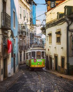 by bu_khaled Portugal Travel, Lisbon Portugal, Lisbon Tram, Tramway, Facebook Image, Beautiful Places To Visit, Locomotive, Travel Inspiration, To Go