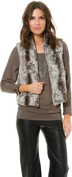 EIGHT SIXTY ZIP UP FAUX FUR VEST > Womens > Featured   Swell.com