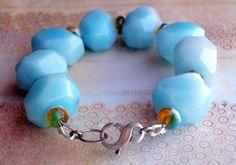 Amazonite and Crystal Bracelet