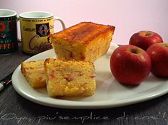 Plumcake alle mele, ricetta dolce semplice