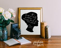 Jane Austen printable quote wall art wall decor by PrintableWisdom